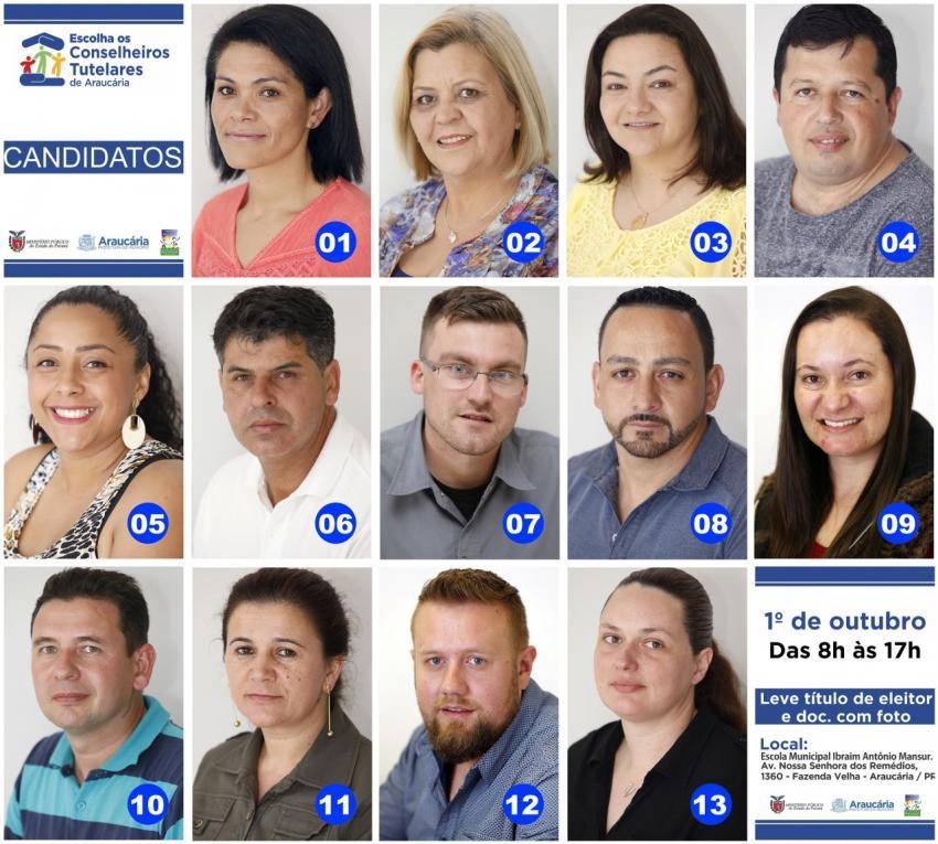 Conheça e vote para escolher os novos conselheiros tutelares de Araucária-PR