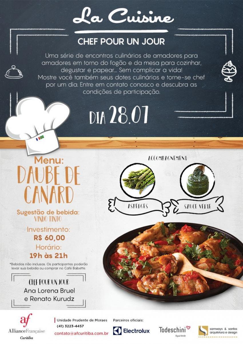 Chef pour un jour re ne amantes da gastronomia francesa for Comida francesa df